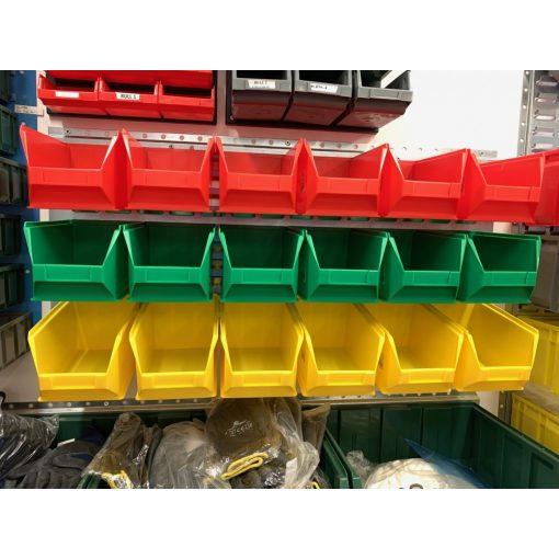 Horganyzott Fali Tartó (440X991mm) színes Mh4 Dobozokkal Vízszintes