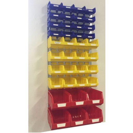 Horganyzott fali tartó BULL dobozokkal (991x440) Szett
