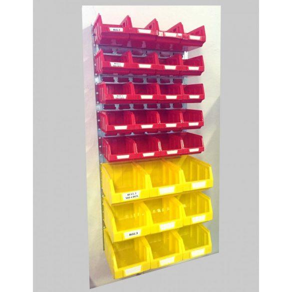 Horganyzott fali tartó MH-BOX dobozokkal (991x440) Szett 01