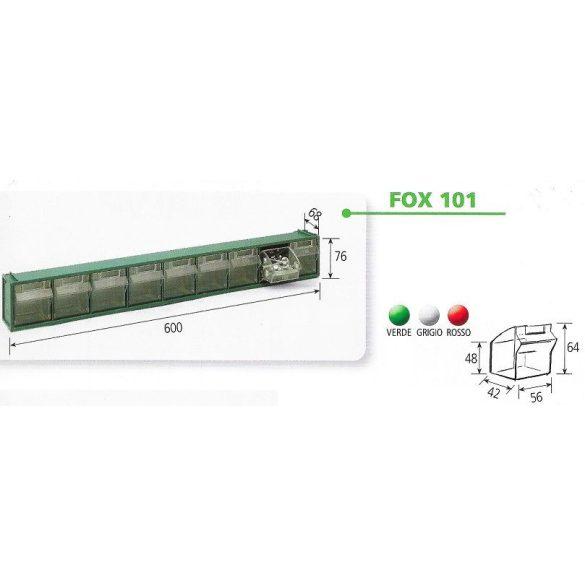 FOX 101 fali tároló (9 fiókos)