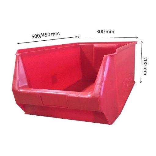 MH2-box piros (500x300x200mm)