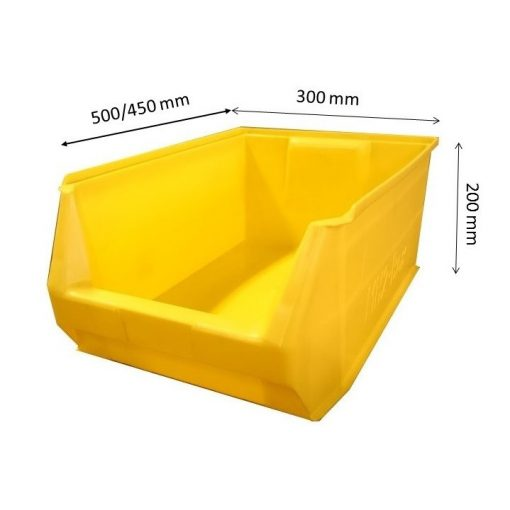 MH2-box sárga (500x300x200mm)