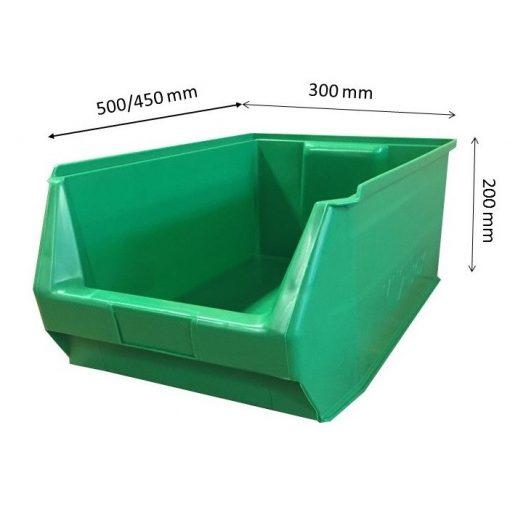 Mh2-Box Zöld (500X300X200mm)