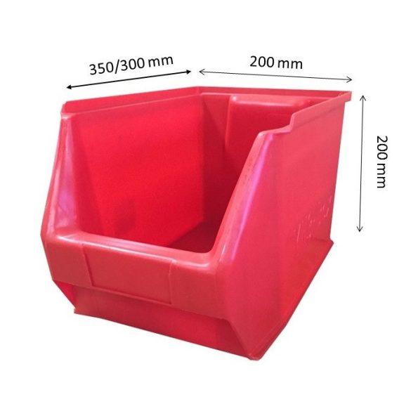 MH3-box piros (350x200x200mm)