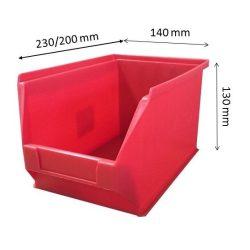 MH4-box piros (230x140x130mm)