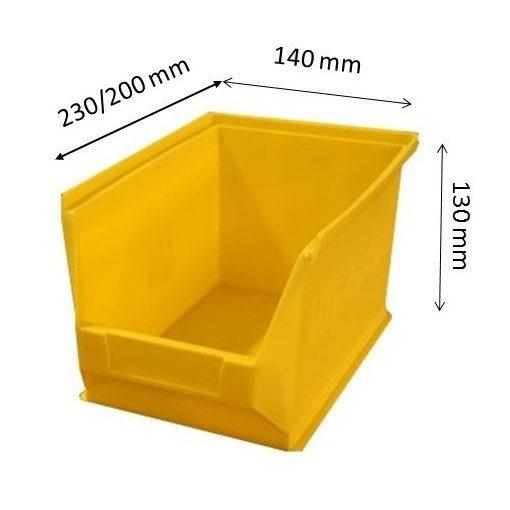 MH4-box sárga (230x140x130mm)