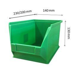 MH4-box zöld (230x140x130mm)