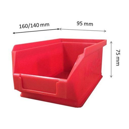Mh5-Box Piros (160X90X75mm)