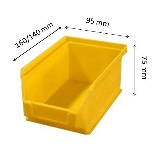 MH5-box sárga (160x90x75mm)
