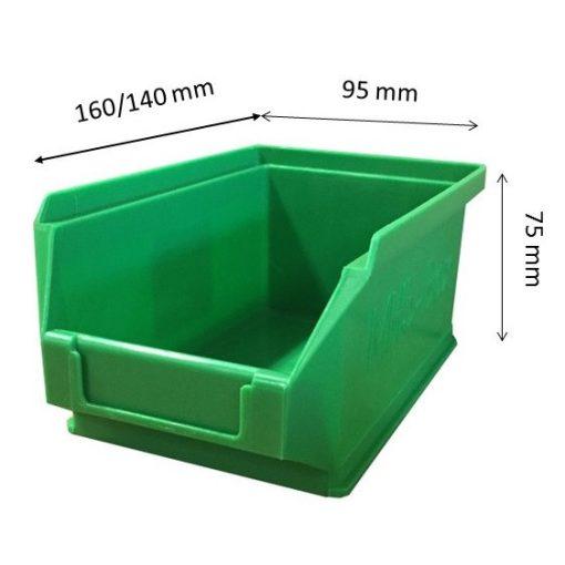 Mh5-Box Zöld (160X90X75mm)