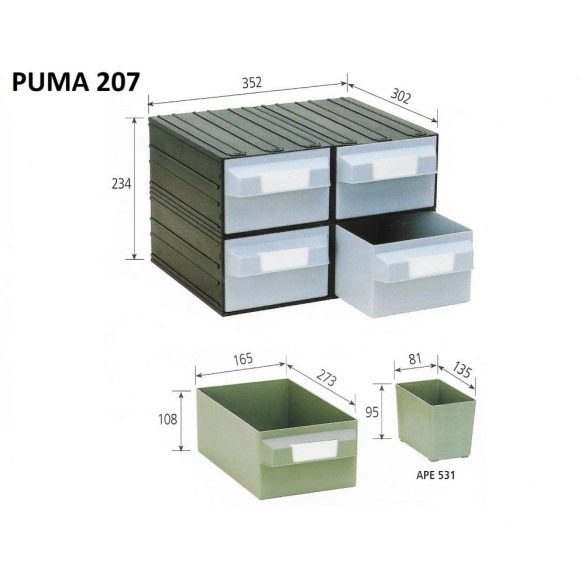 PUMA 207 fiókos tároló rendszer