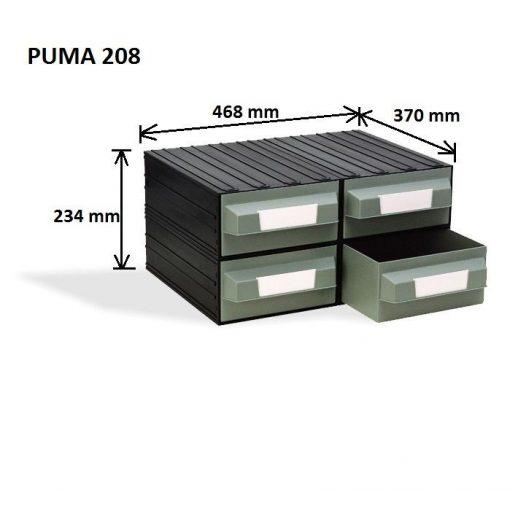 Puma 208 Fiókos Tároló Rendszer - zöld
