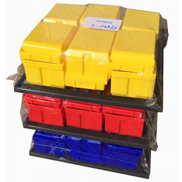 Műanyag fali tartó (340x400) BULL dobozokhoz