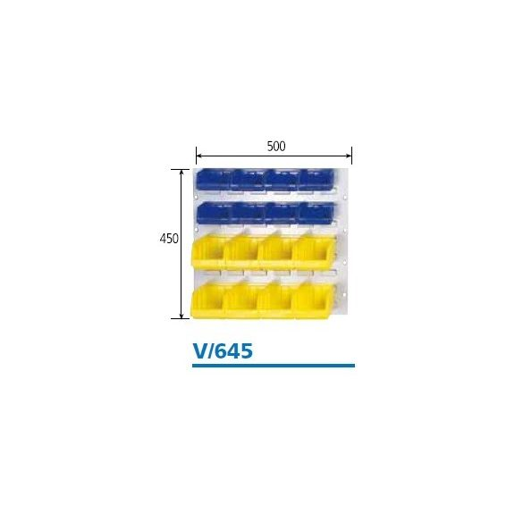 V_645_FÉM fali tartó BULL dobozokhoz